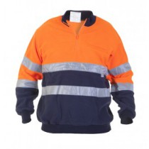 040451ON Hydrowear Schippers Fleecetrui Texel EN471 (Orange/Navy)
